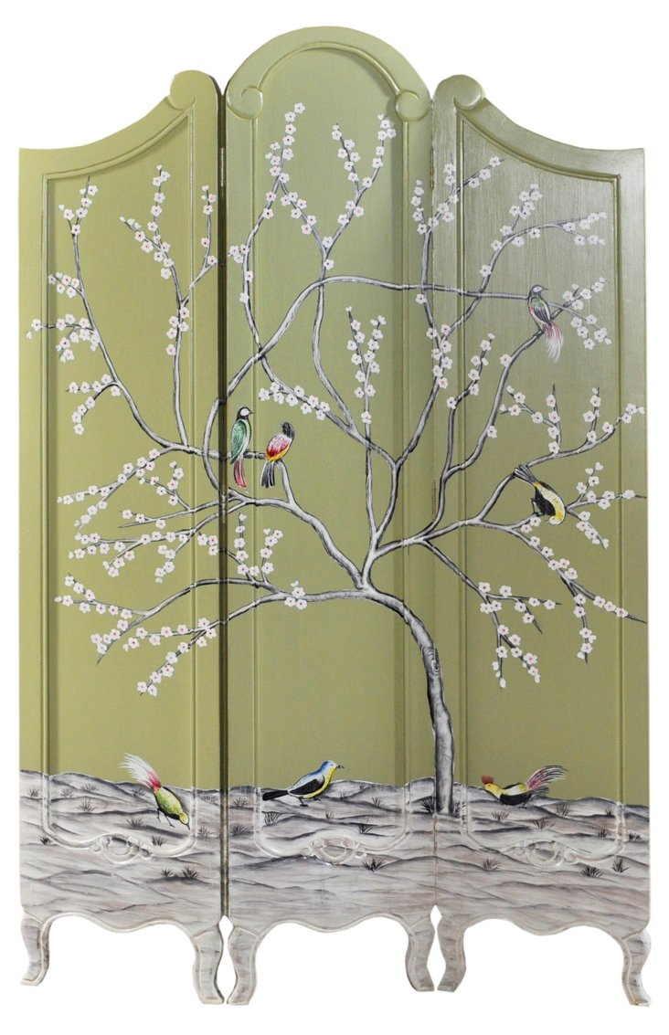 Monte Carlo 3-Panel Tree Screen, Sage