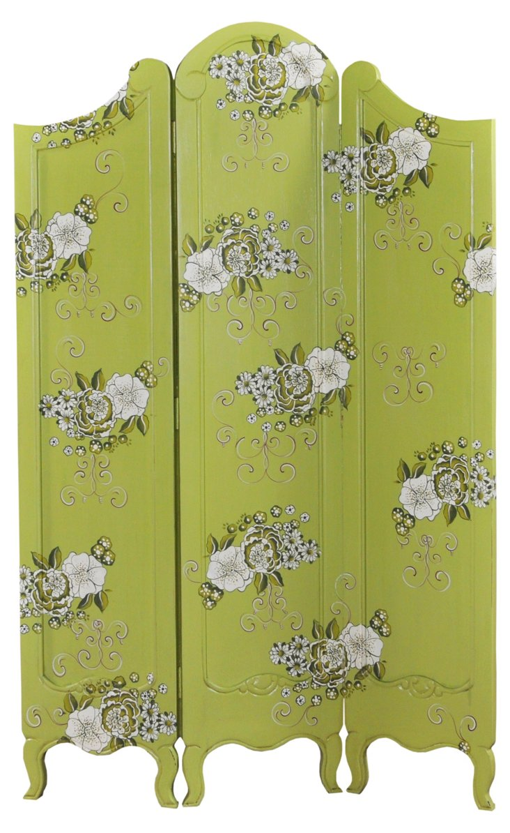 Monte Carlo 3-Panel Screen, Green
