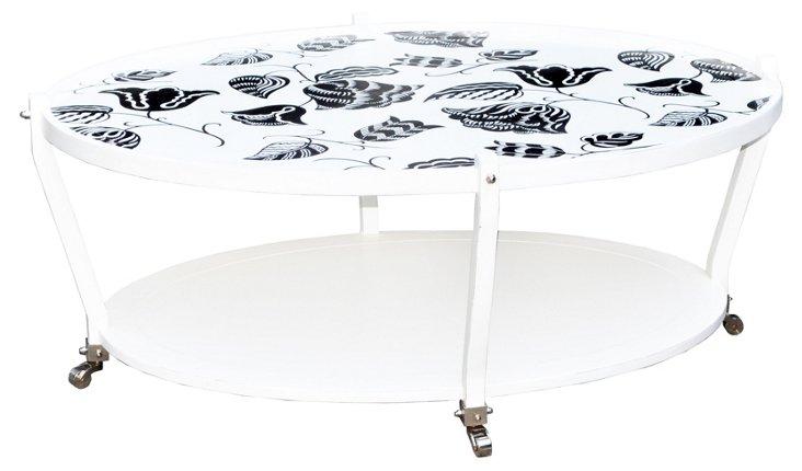 Metro Coffee Table, White/Black