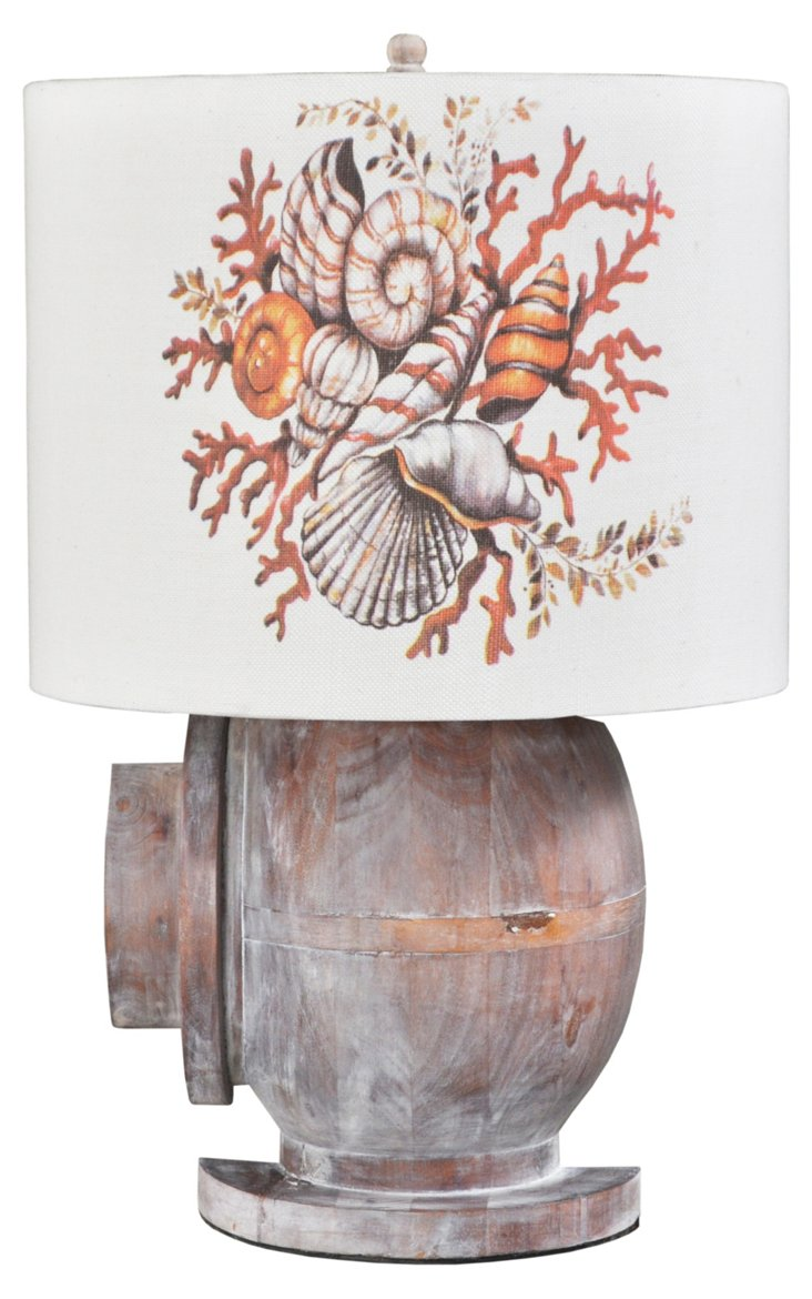 Battersea Wooden Lamp, Weathered Wood