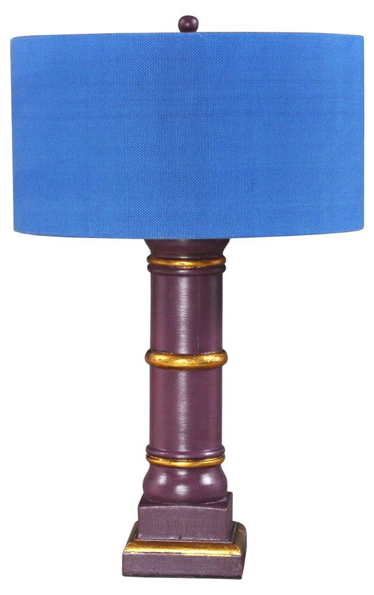 Column Lamp, Purple Mahogany