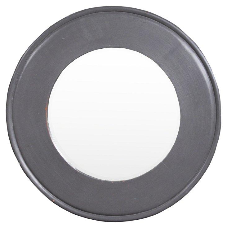 Hyde Studded Mirror, Slate Gray