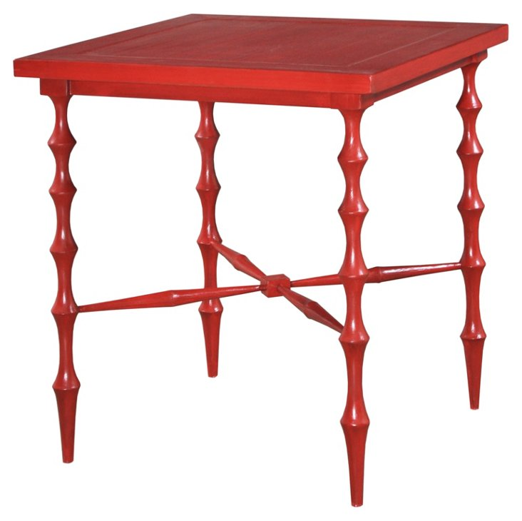 Horn Square Table, Red