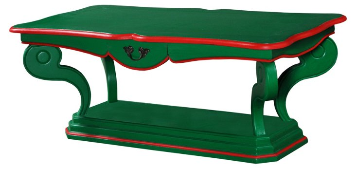Limoges Coffee Table, Hunter Green