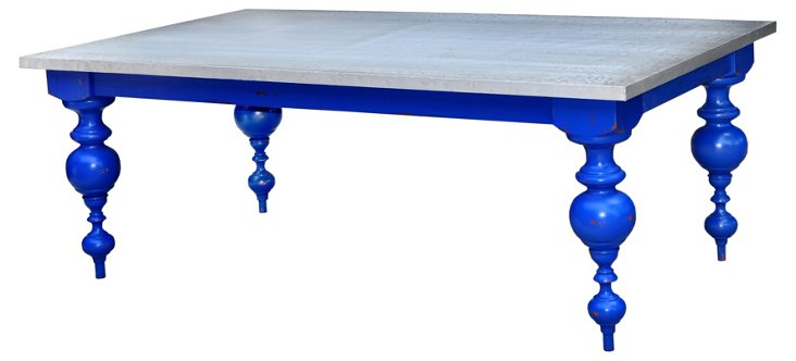 Goucho Dining Table, Blue