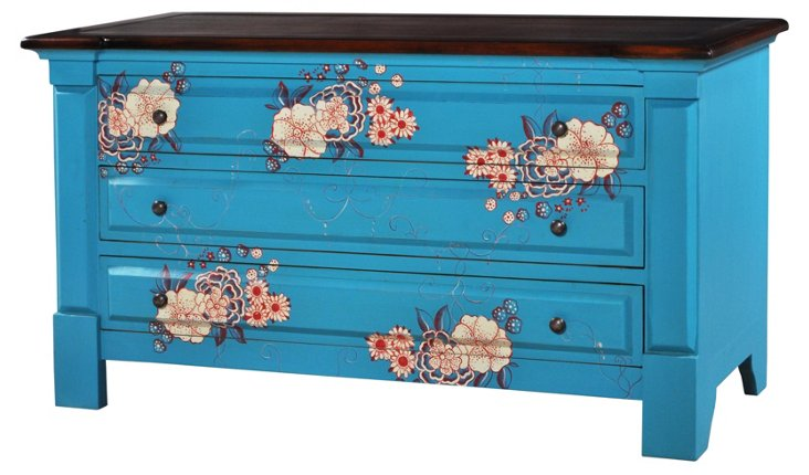 Lizzies 3-Drawer Dresser, Blue