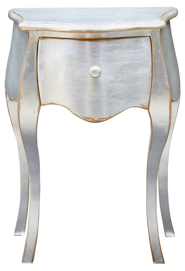 Nancy Side Table, Silver