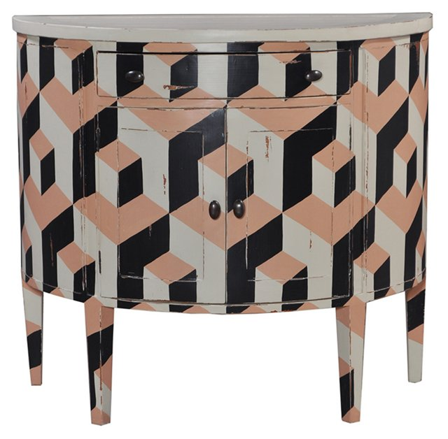 Dana Console, Black/Peach