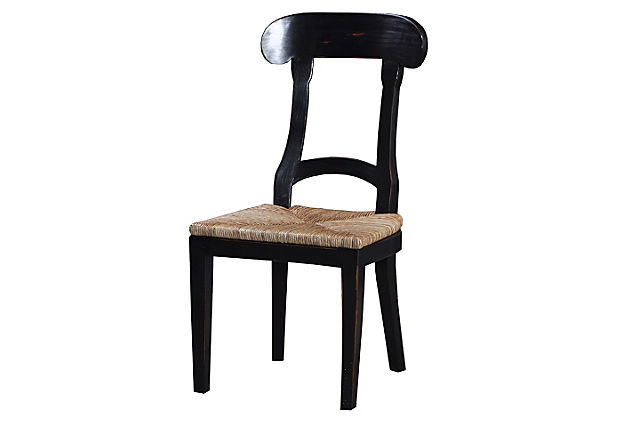 Forester Dining Chair, Black/Wheat