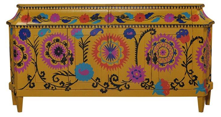 Maya Sideboard, Canary/Pink/Multi