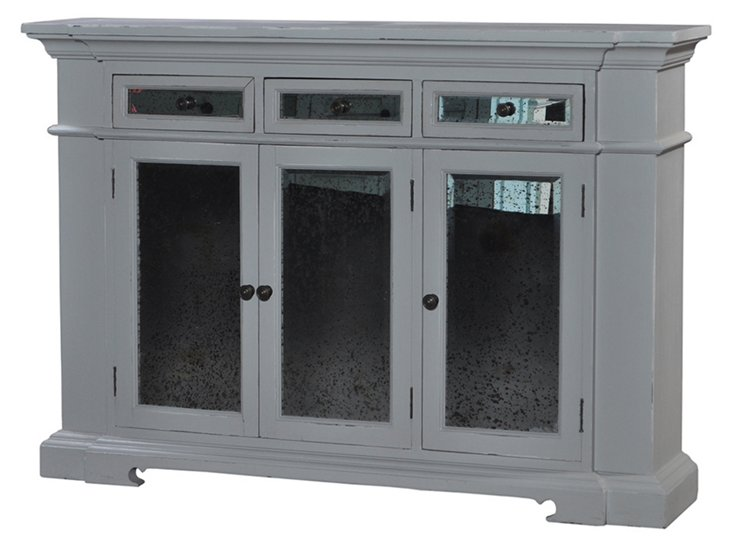 """Shelly 56"""" Sideboard, Gray"""