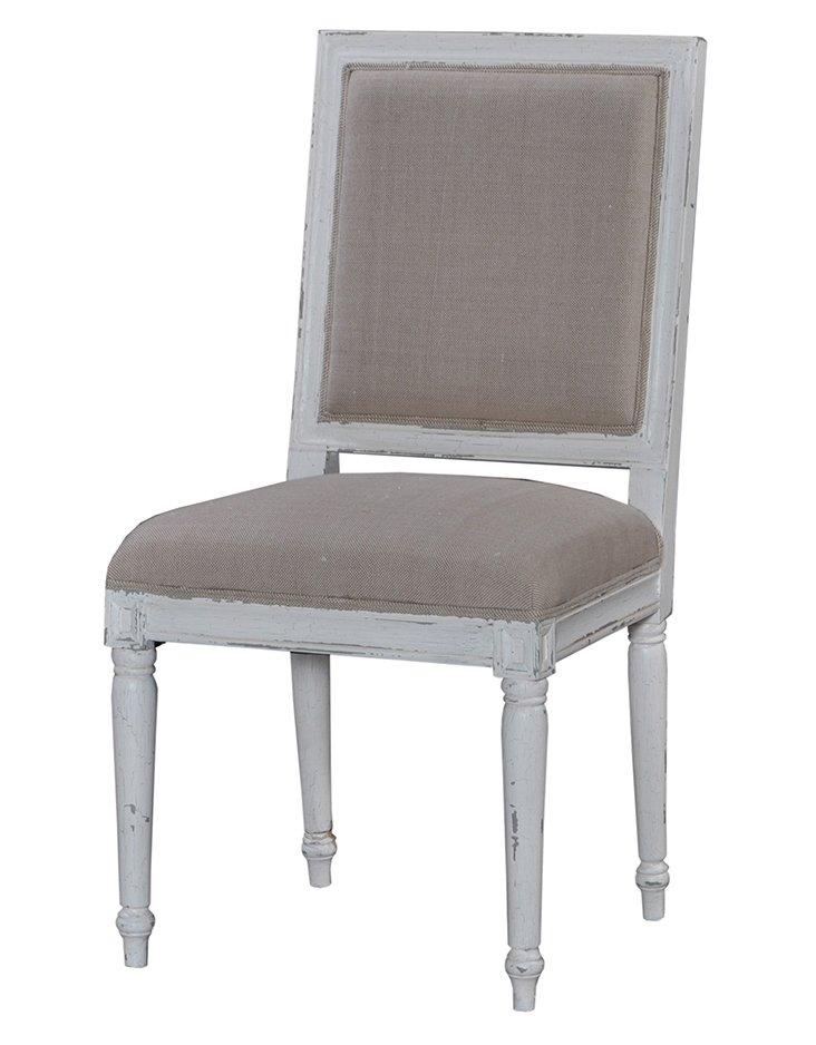 Levison Dining Chair, Gray/Beige