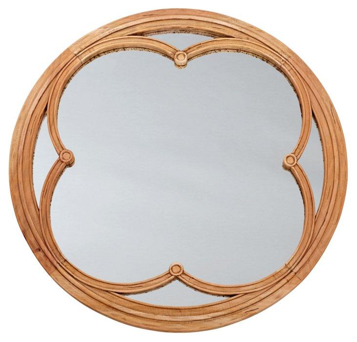 Lilien Round Mirror, Natural/Black