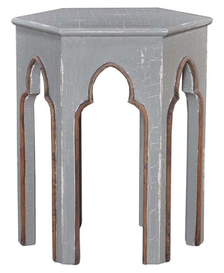 Souk Side Table, Distressed Gray