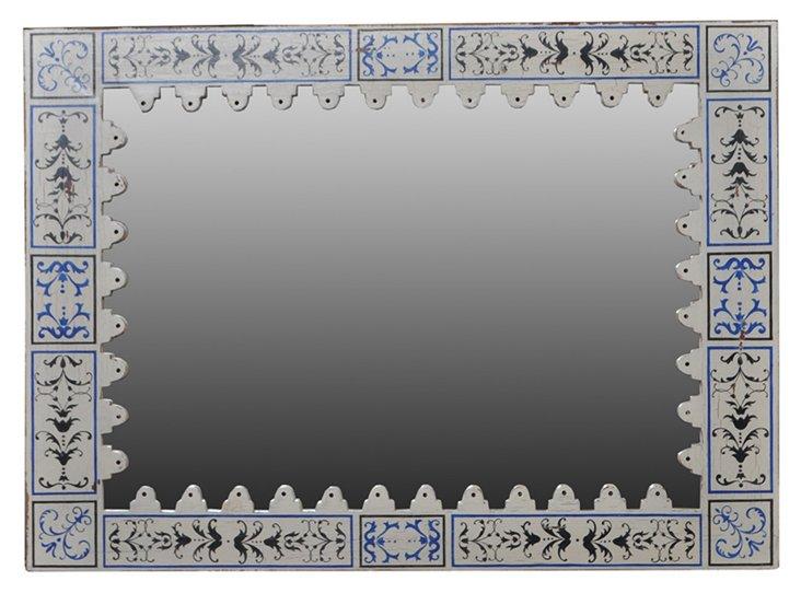 Tasha Mirror, Gray/Blue
