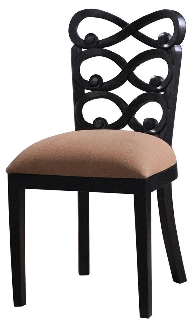 Lewis Dining Chair, Black/Mocha