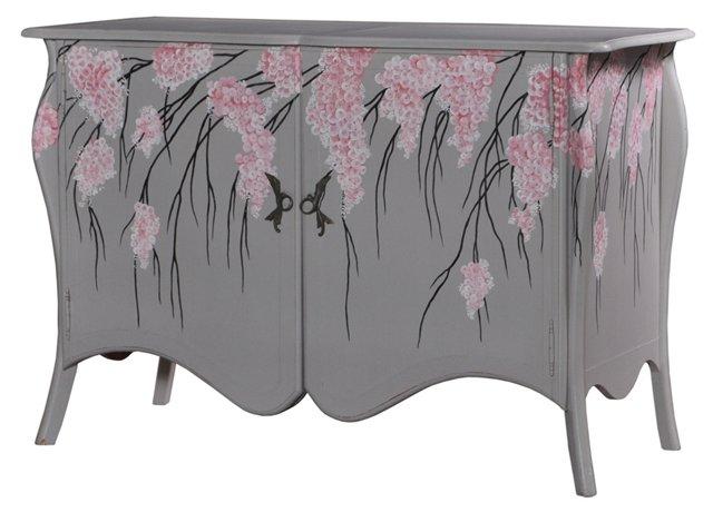 Brussels Sideboard, Gray/Pink