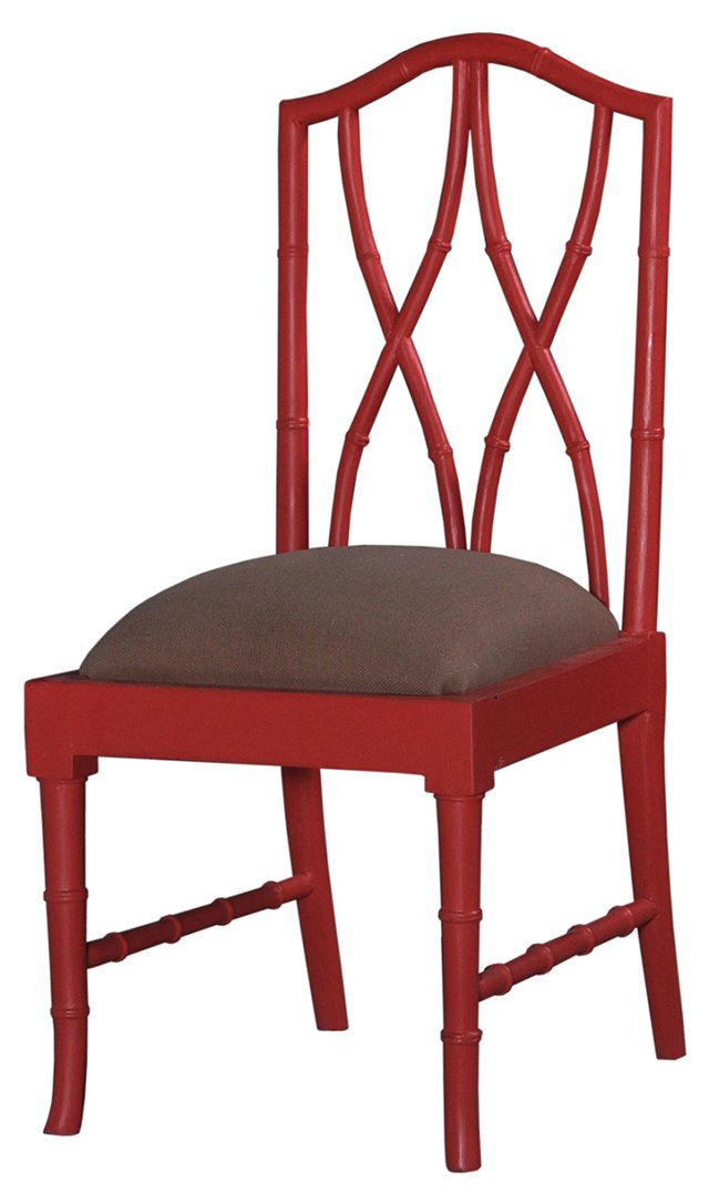 Farrah Dining Chair, Red/Cocoa