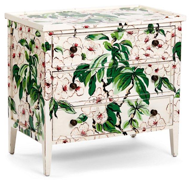 Kennedy Dresser, White/Green