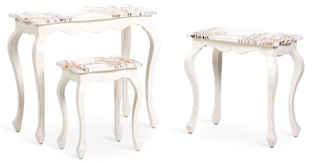 Addison Nesting Tables, White