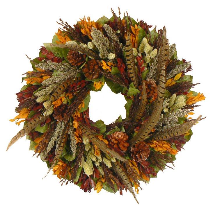 """18"""" Harvest Heartland Wreath"""