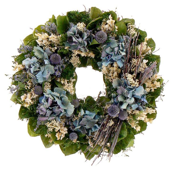 "16"" Lavender Rose Wreath"