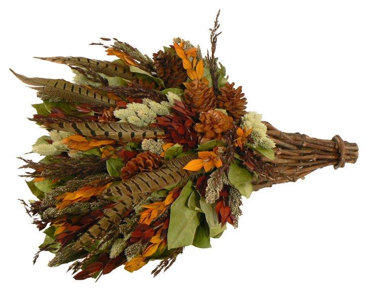 "20"" Autumn Caspia Cornucopia, Dried"