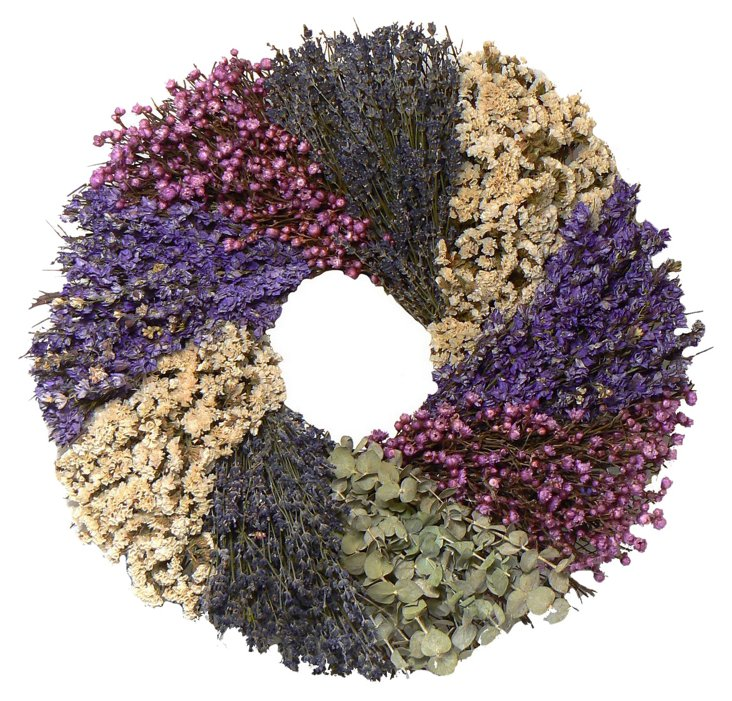 22'' Lavender Country Wreath, Dried