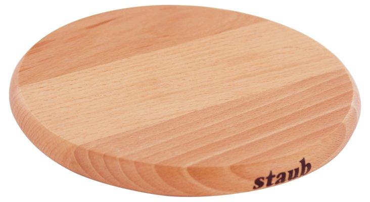 Medium Magnetic Round Wooden Trivet
