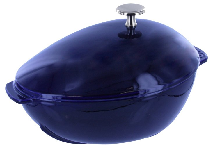 2 Qt Mussel Pot w/ Knob, Dark Blue