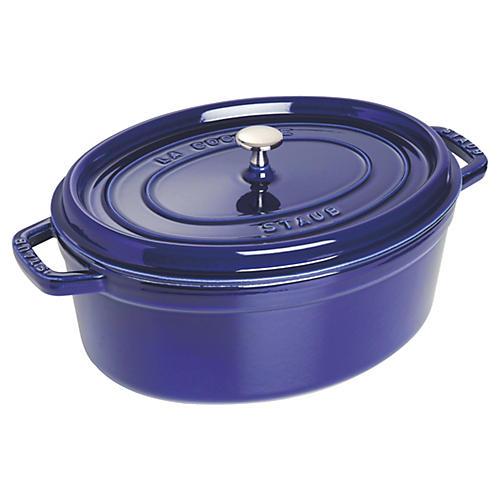 7 qt Staub Oval Cocotte, Dark Blue