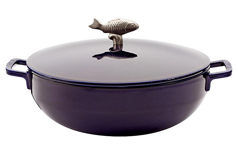 5 qt Bouillabaisse Cocotte, Dark Blue