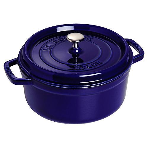 13.25 qt Round Cocotte, Dark Blue