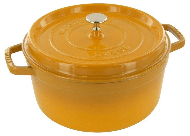 5.5 Qt Round Cocotte, Saffron