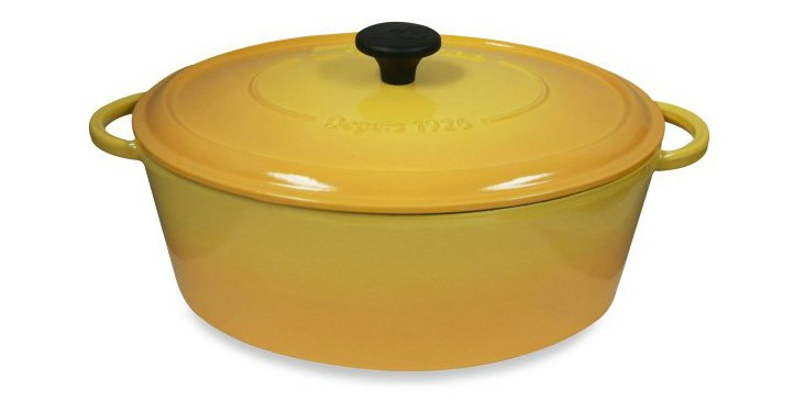 5.5 Qt Oval Cocotte, Yellow