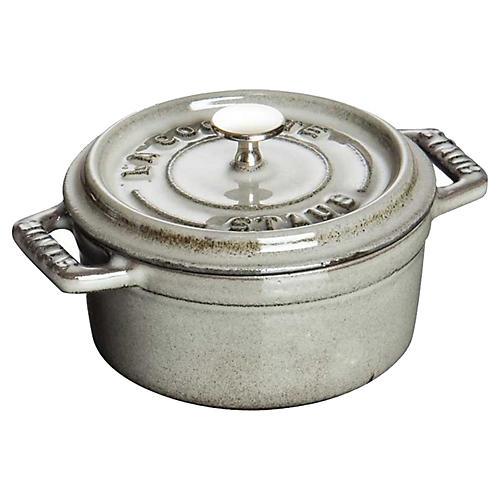 .25 qt Mini Round Cocotte, Graphite Gray