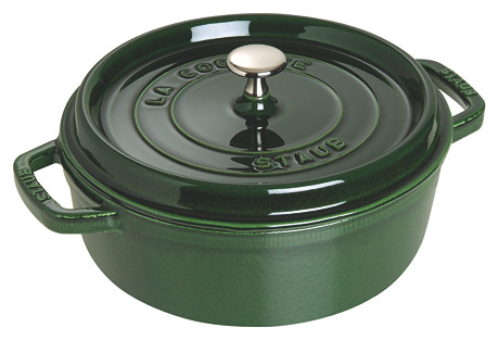 6 Qt Wide Round Oven Cocotte, Basil