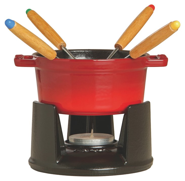 .25 Qt Mini Chocolate Fondue Set, Cherry