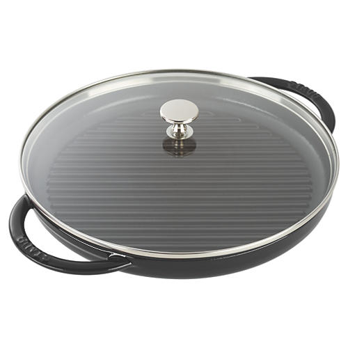 Round Steam Grill, Matte Black