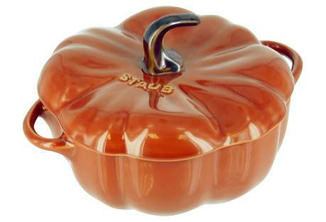 24 Oz Pumpkin Cocotte, Burnt Orange