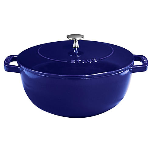 4 qt Essential French Oven, Dark Blue