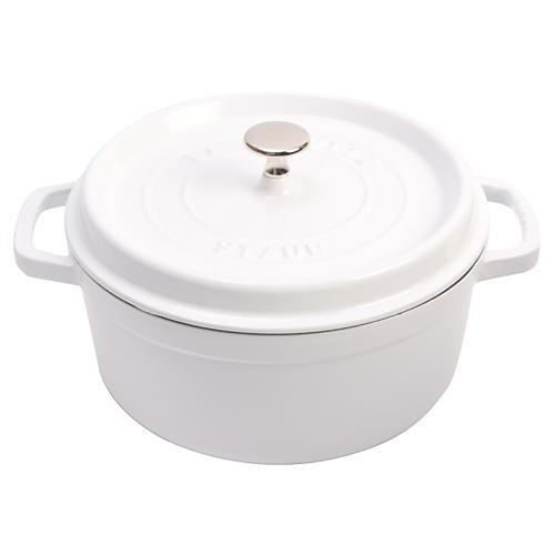 Round Cocotte, White