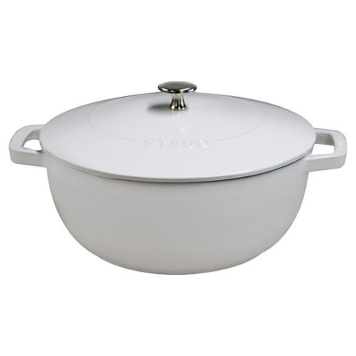 4 qt Essential French Oven, White