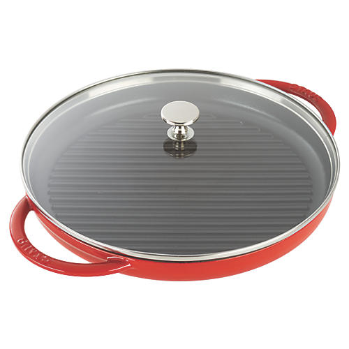"10.5"" Round Steam Grill, Cherry"