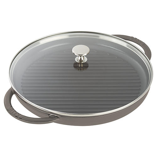 "10.5"" Round Steam Grill, Graphite Gray"