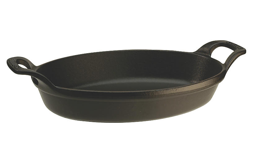 4-Qt Oval Baking Dish, Matte Black