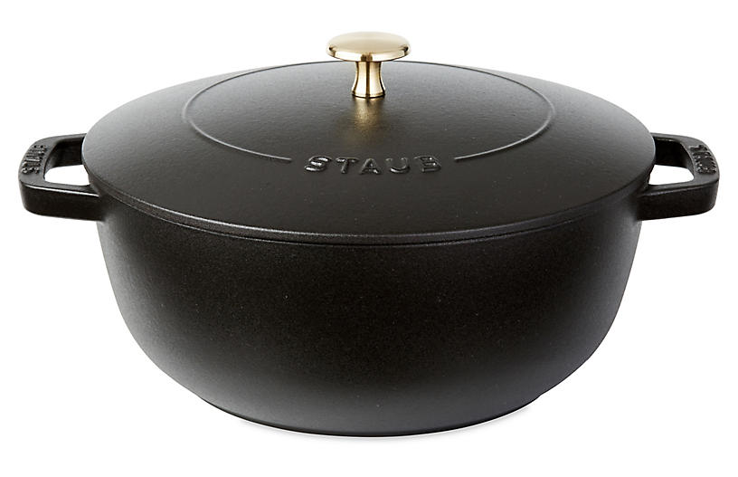 4 Qt Essential French Oven Baker Matte Black Staub