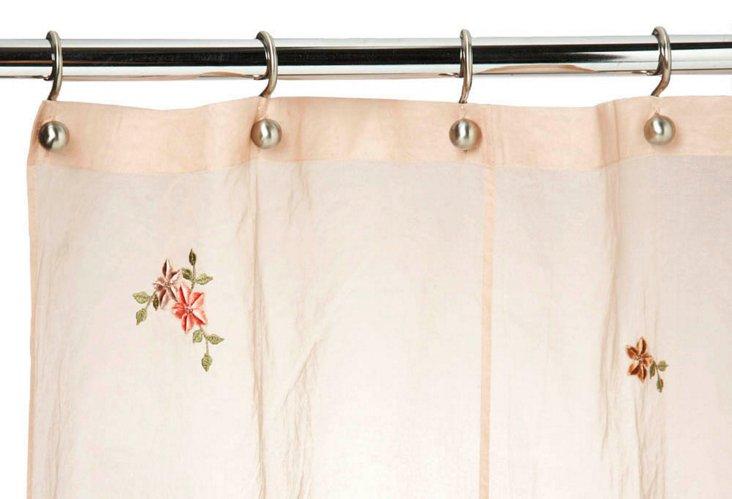 Plush Shower Curtain, Blush