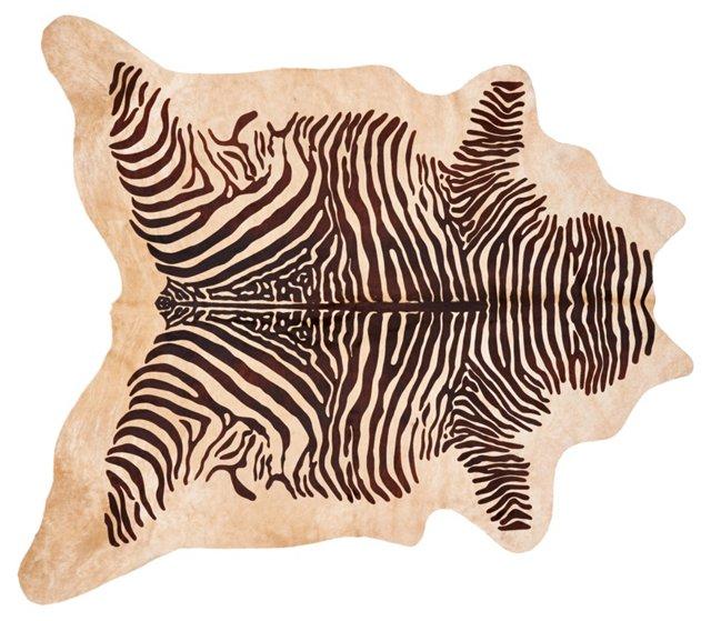 """6'6""""x7' Zebra Hide, Multi"""