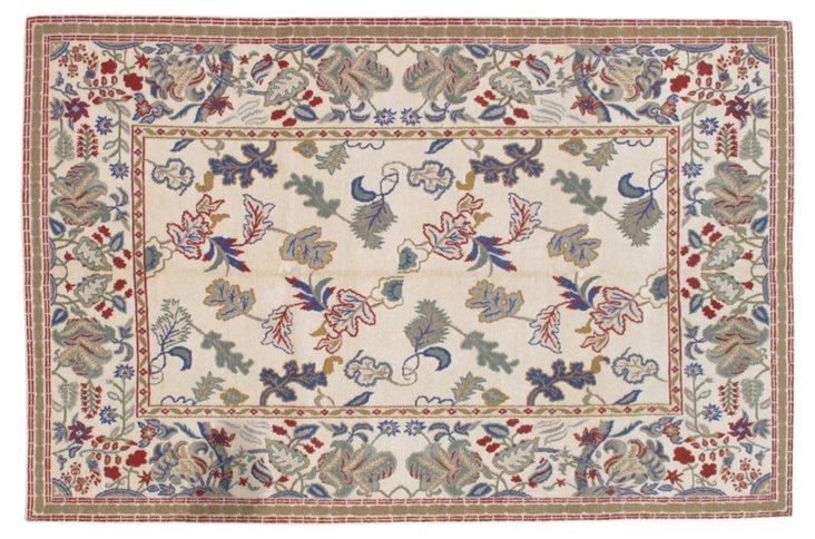Tanner Rug, Cream/Blue/Multi